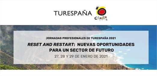 JORNADAS TURESPAÑA 2021: nuevas oportunidades para un sector de futuro -  webinar profesional turismo