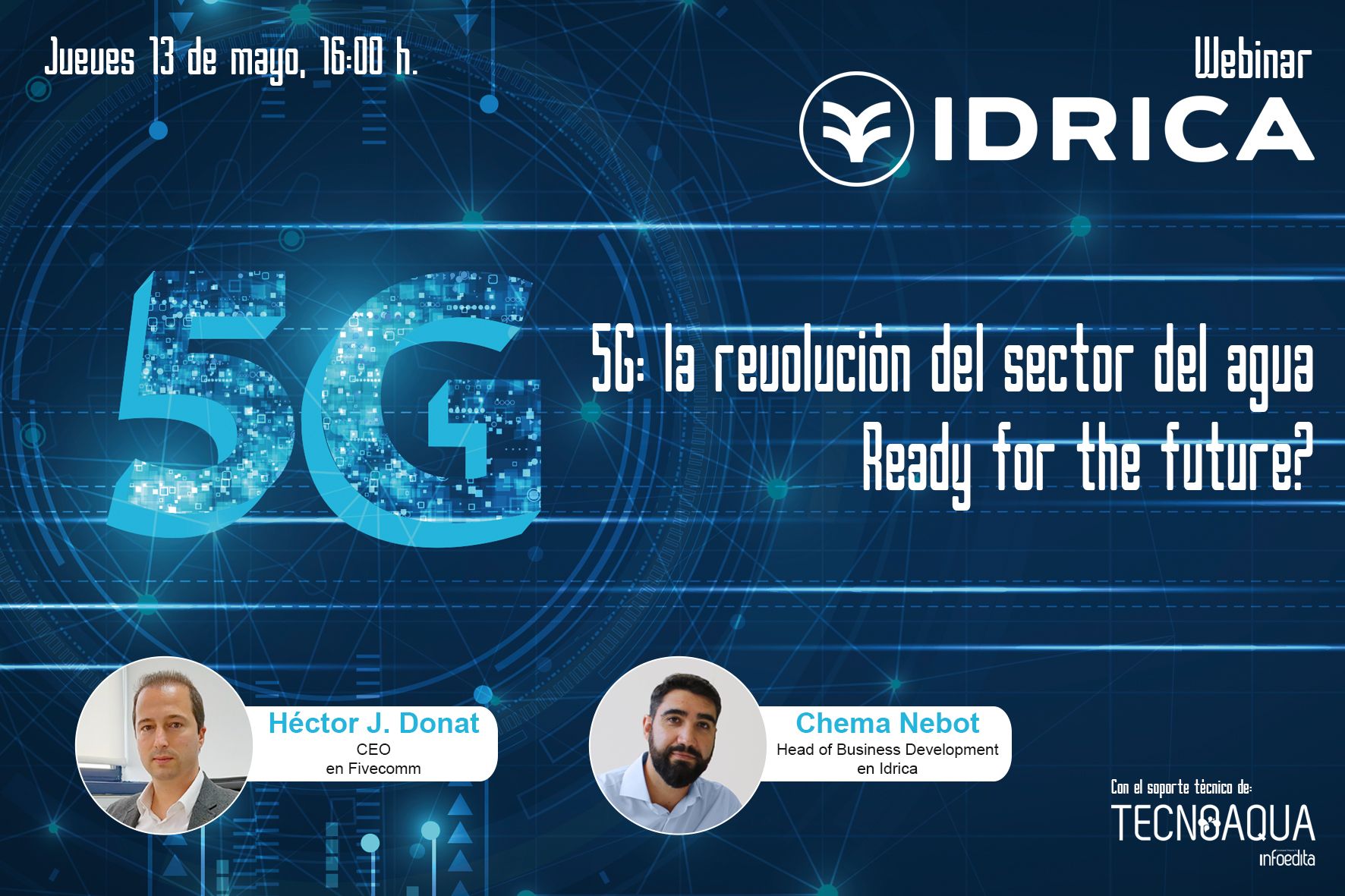 5G: la revolución del sector del agua. Ready for the future? -webinar profesioanl tecnoaqua