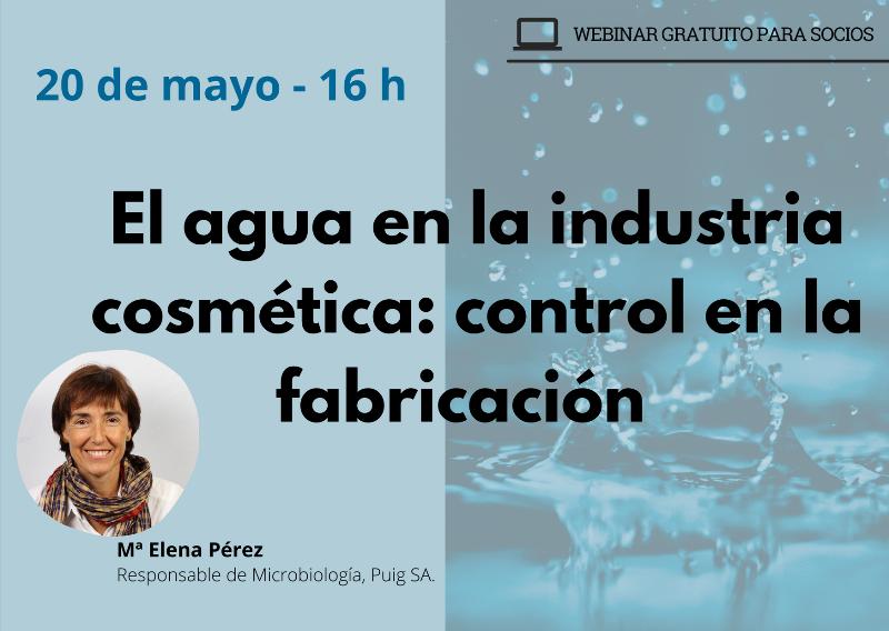 El agua en la industria cosmética. Control en fabricación - webinar profesional