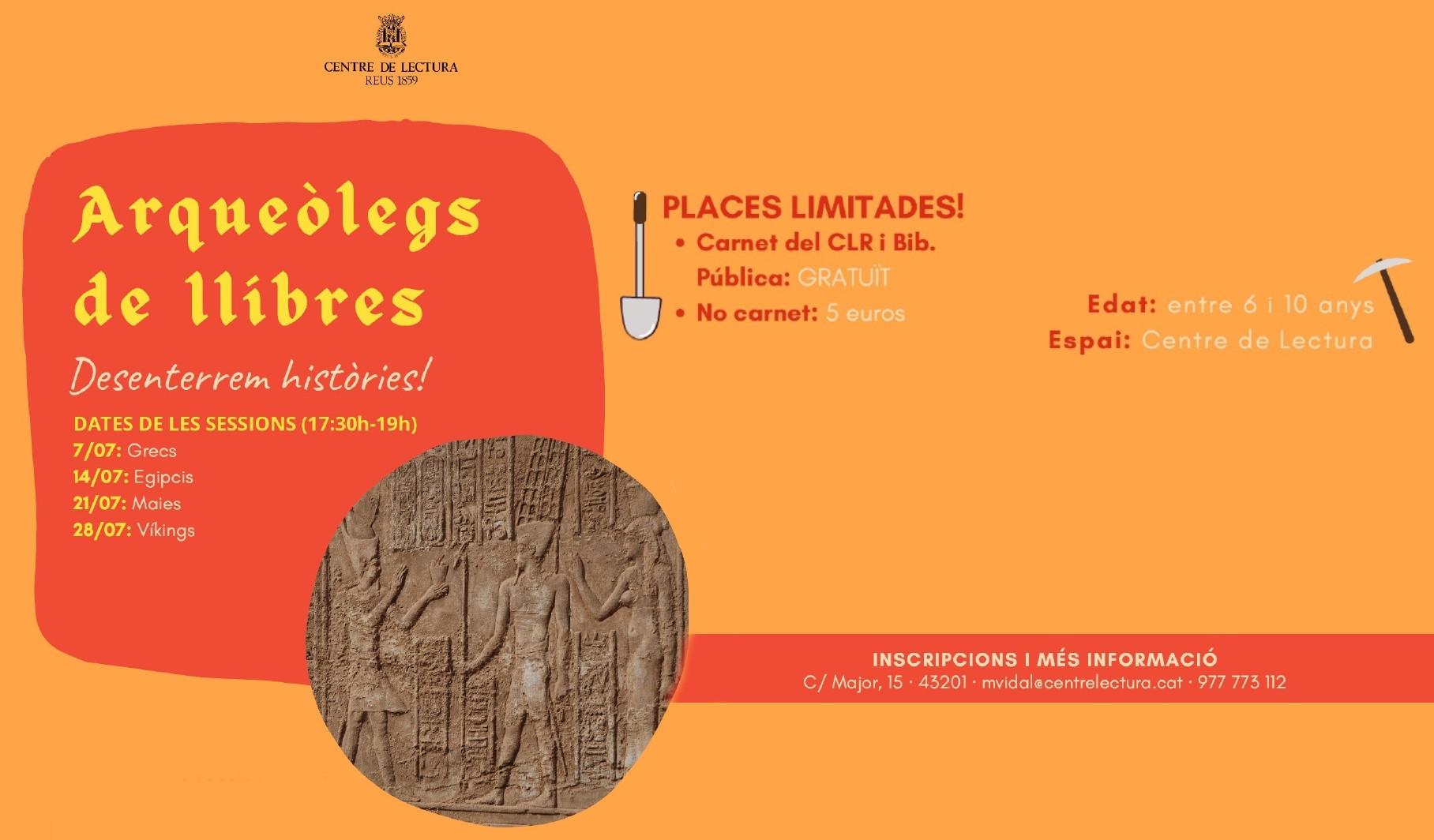 Arqueòlegs de llibres. Desenterrem històries !