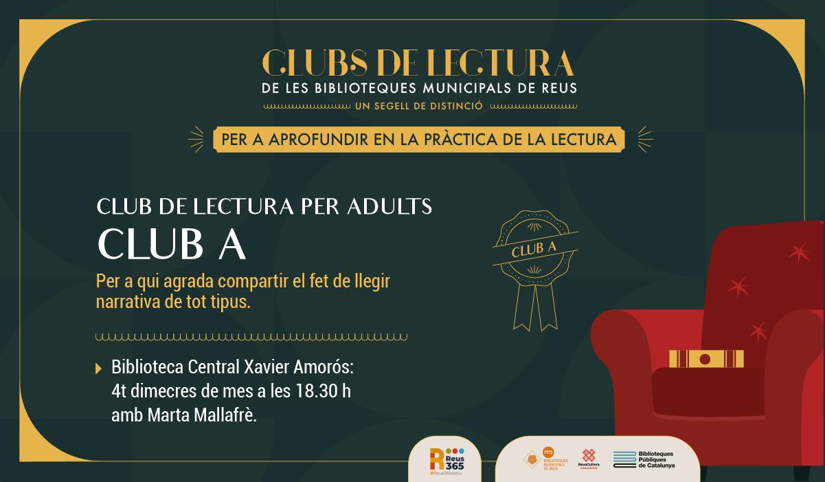 CLUB DE LECTURA PER ADULTS (GRUP A amb Marta Mallafrè)