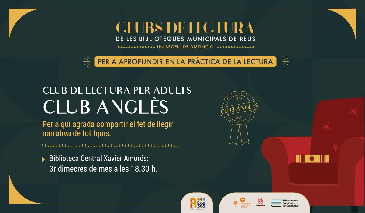 CLUB DE LECTURA PER ADULTS (ANGLÈS)