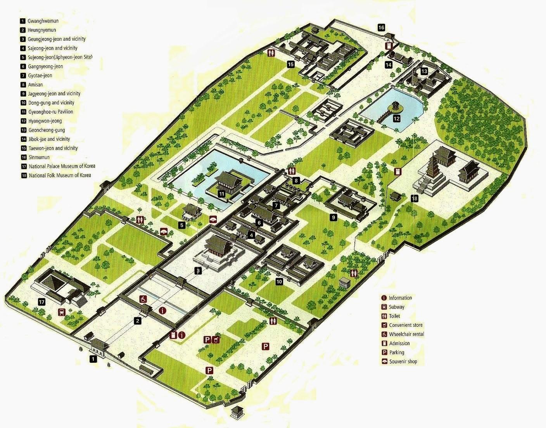 Gyeongbokgung palace map