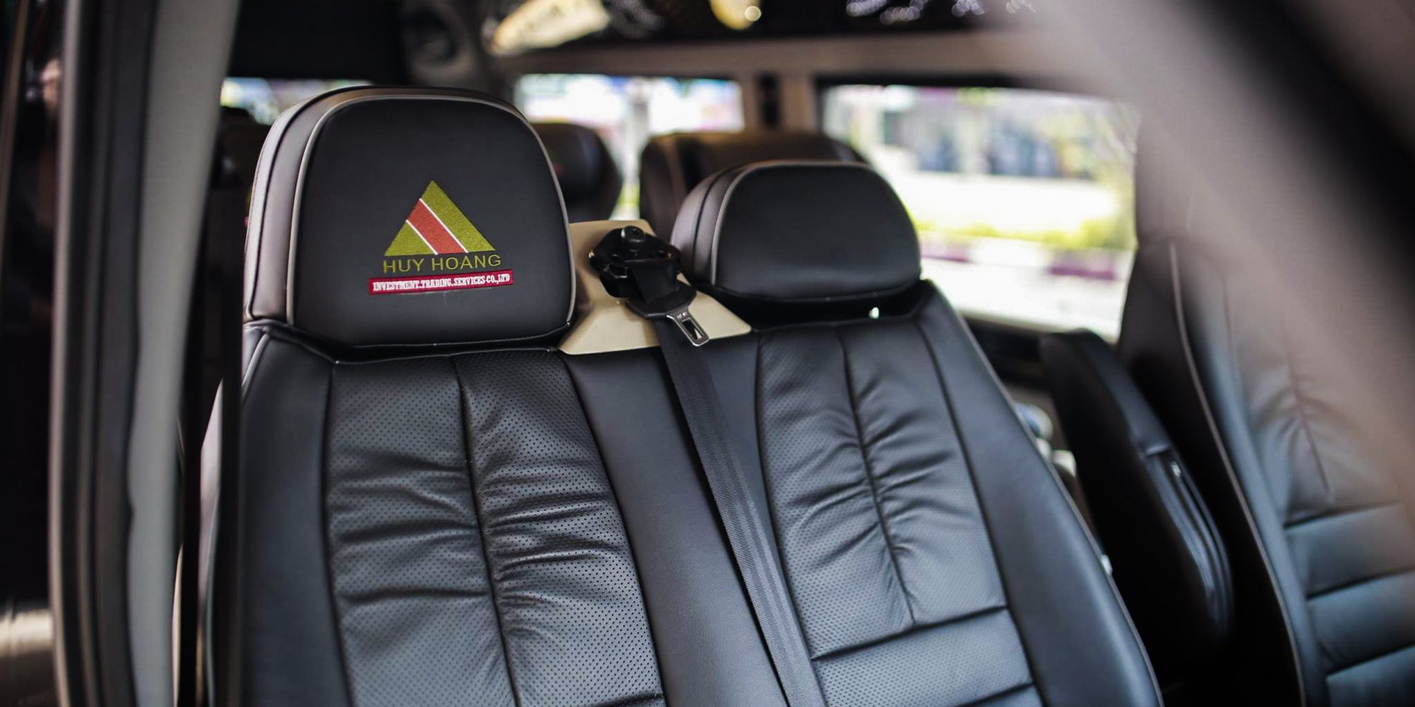 The interior of Huy Hoang limousine