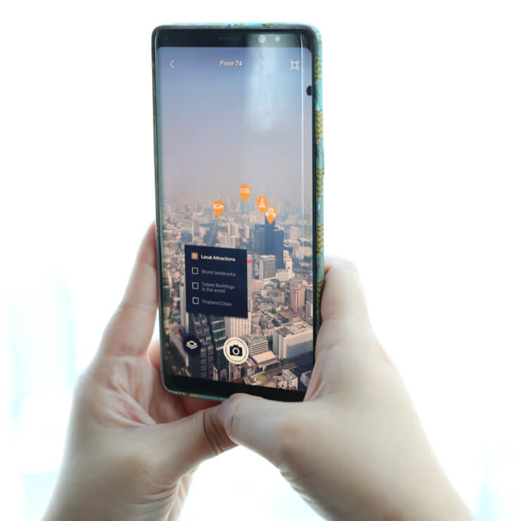 The AR app you can use at MahaNakhon Skywalk