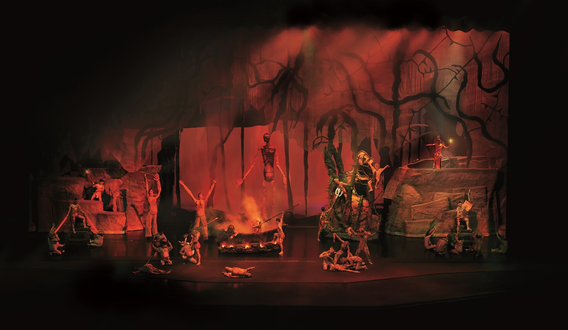 An overview of Hell during Siam Niramit Bangkok Show