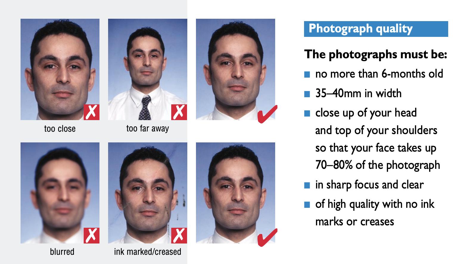 Passport photo requirements