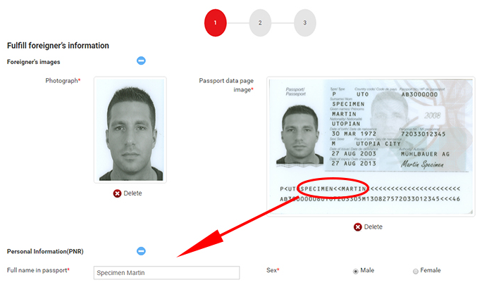 Vietnam e visa registration