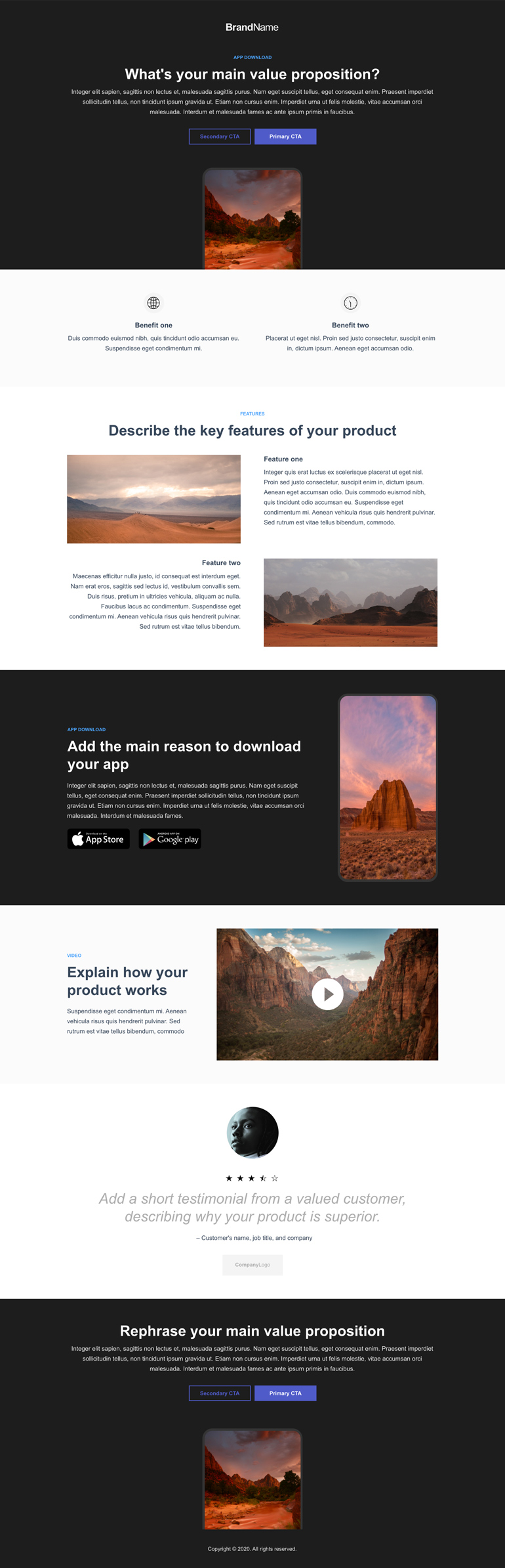 App Download Landing Page 1