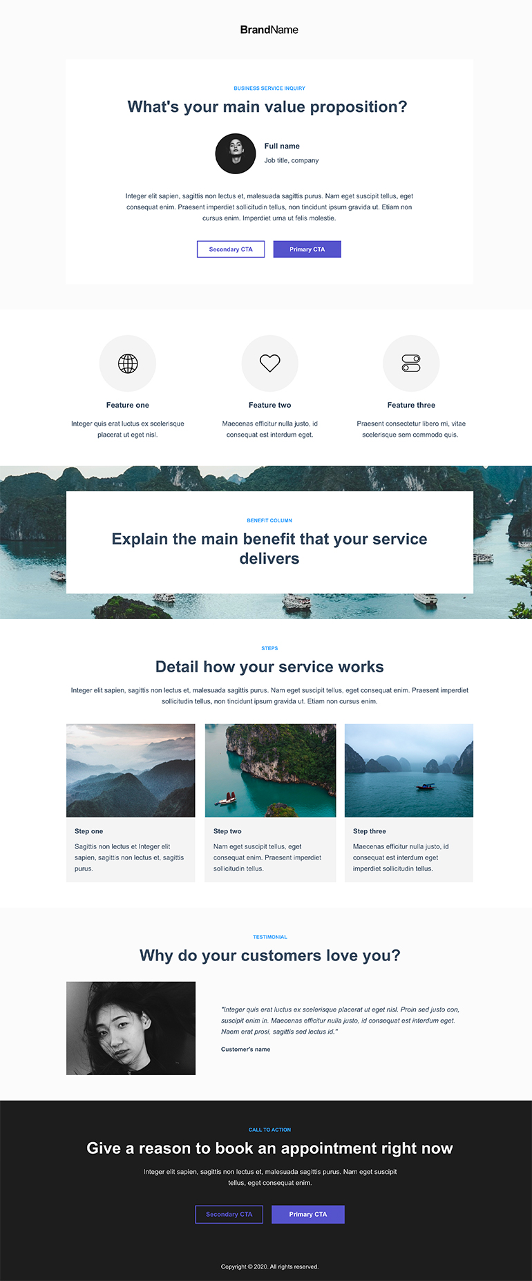 Business Service Inquiry Landing Page 3