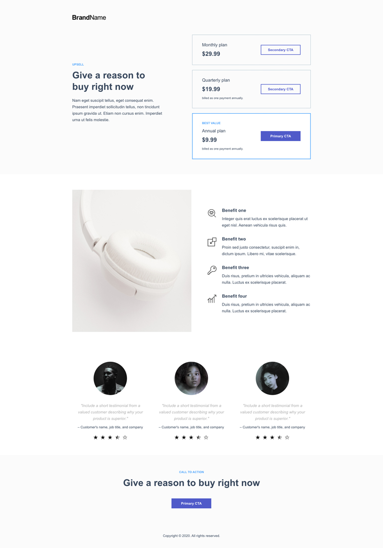 Up-sell or bonus landing page 4