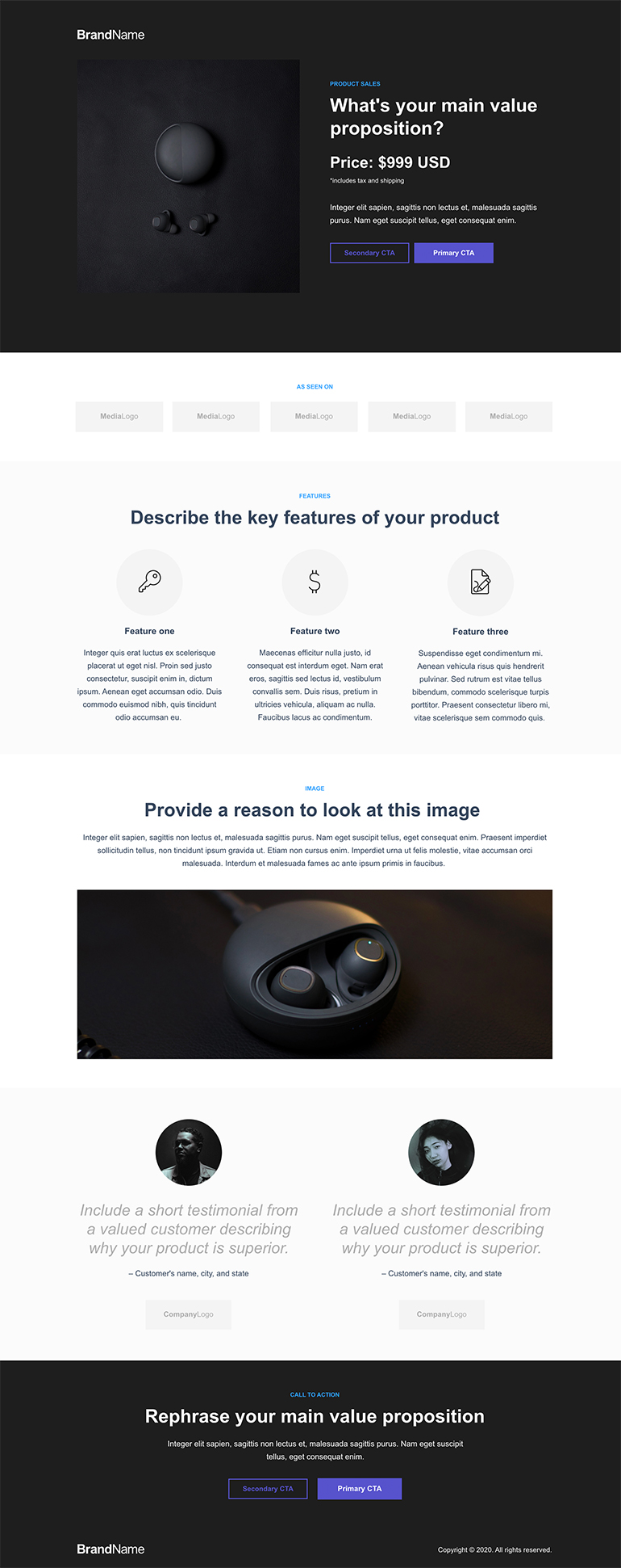 Product Sales Landing Page 7