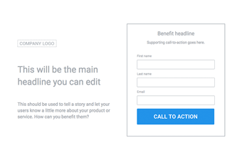 Lead Generation Wireframe