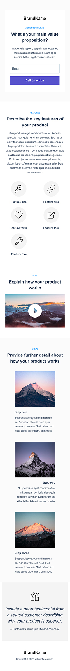 Asset Download Landing Page 3