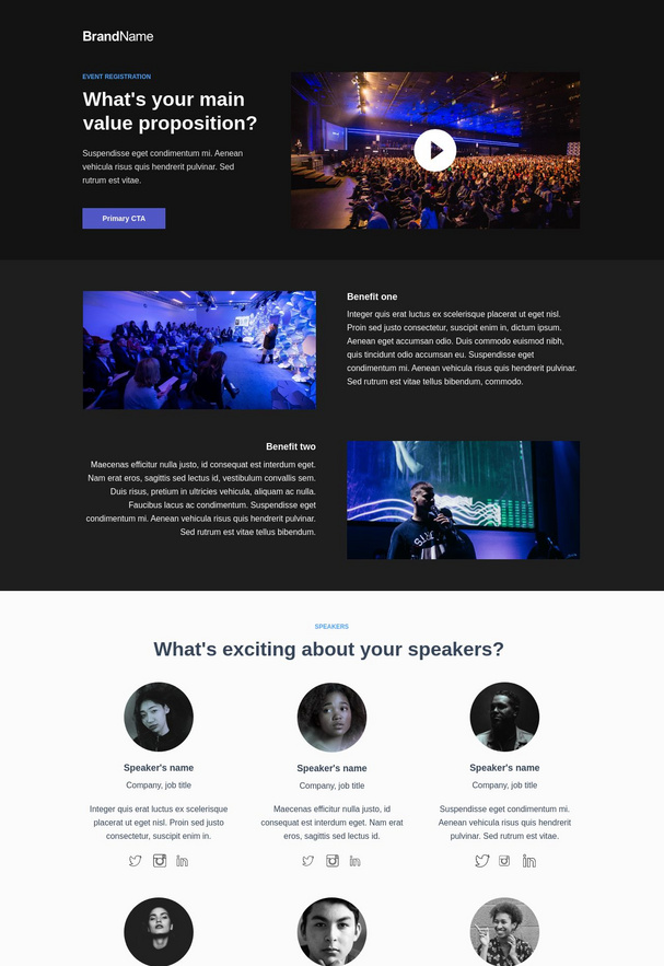 Event Registration Landing Page 1