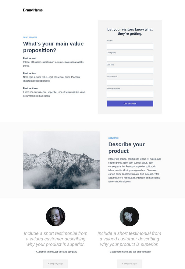 Demo Request Landing Page 2