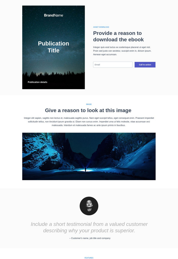 Asset Download Landing Page 4