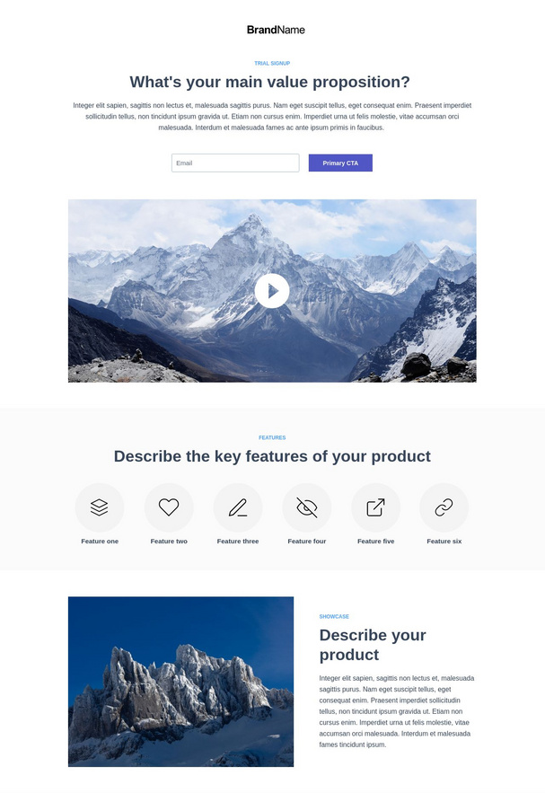 Trial Signup Landing Page 2
