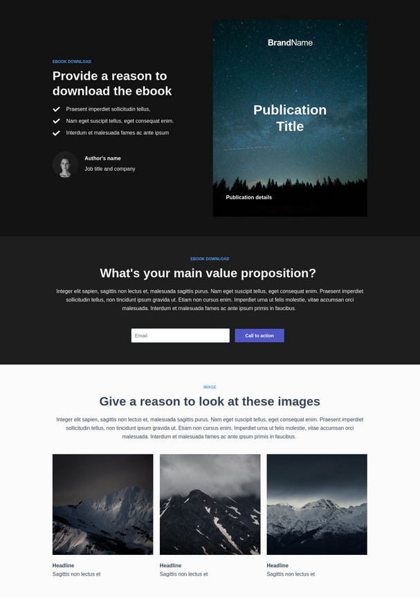 Asset Download Landing Page 5