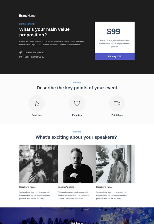 Event Registration Landing Page 5