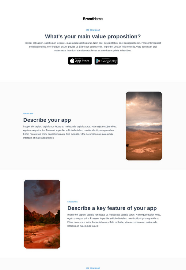 App Download Landing Page 3
