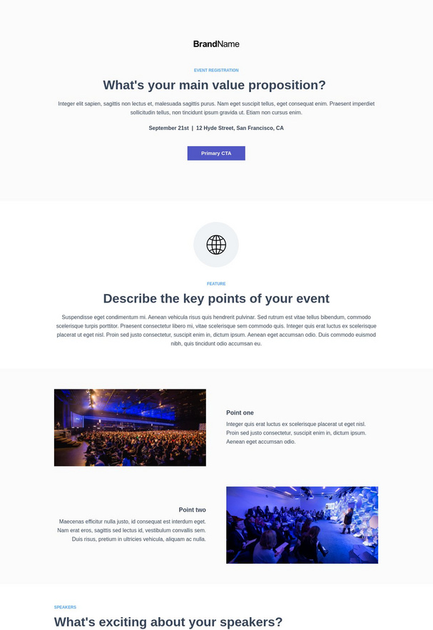 Event Registration Landing Page 3