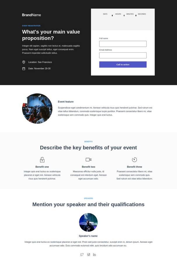 Event Registration Landing Page 6