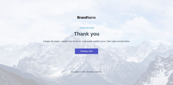 Thank You Landing Page 6