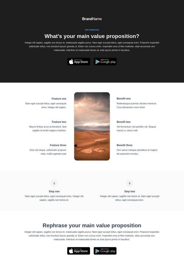 App Download Landing Page 5