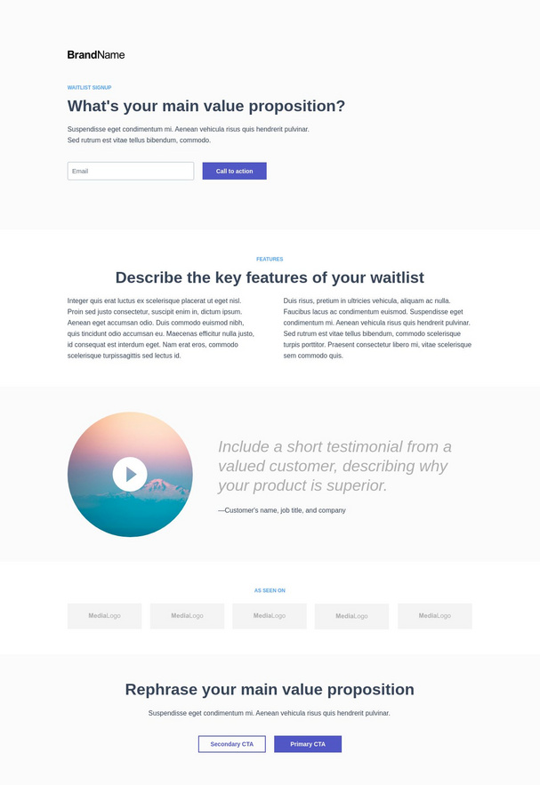 Waitlist Signup Landing Page 3