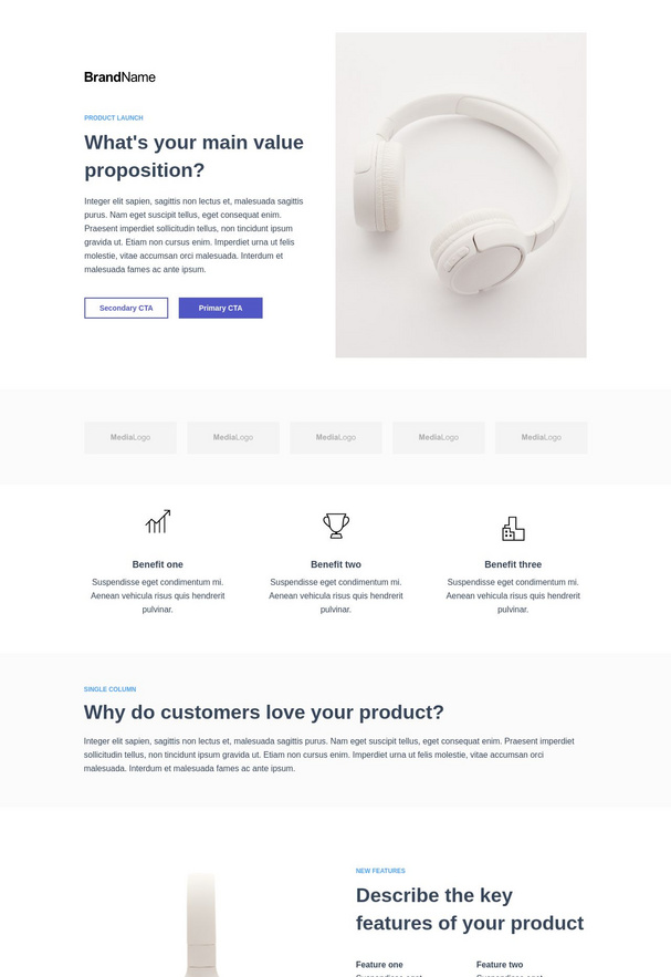 Product Launch Landing Page 1