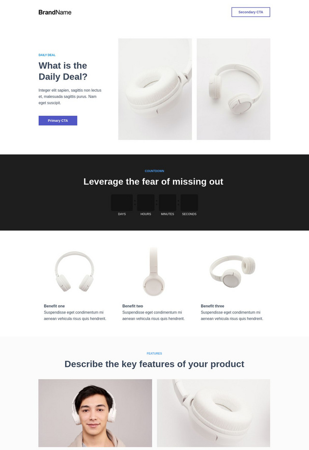 Daily deals landing page 1
