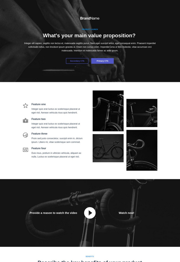 Product Launch Landing Page 2