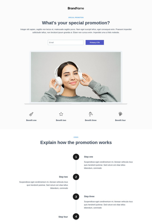 Special Promotion Landing Page 3