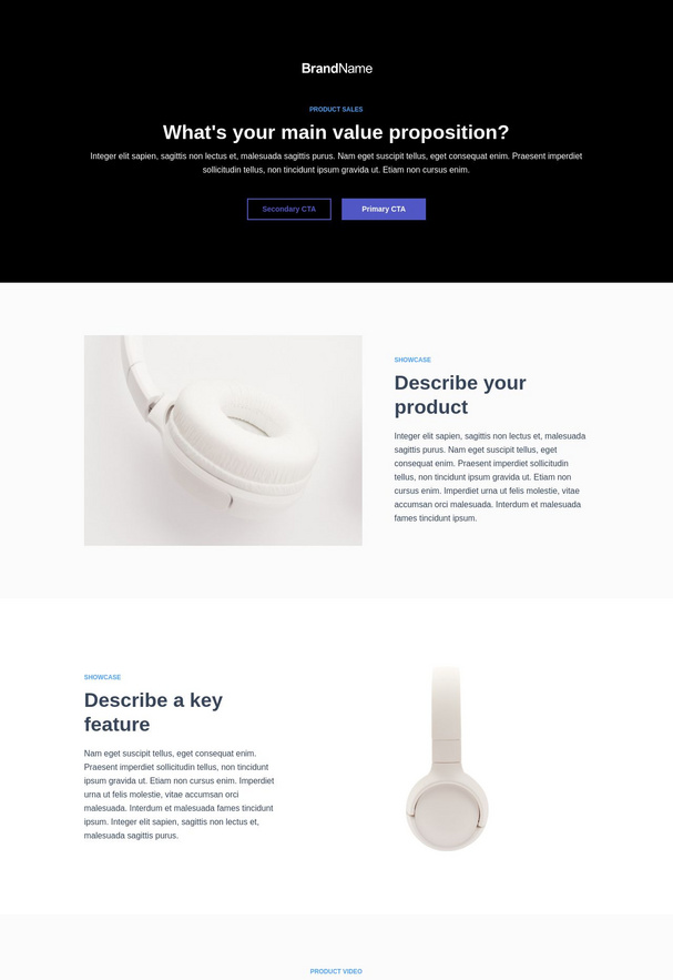 Product Sales Landing Page 9