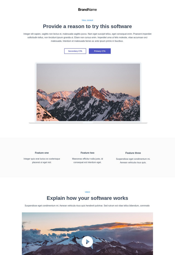 Trial Signup Landing Page 6