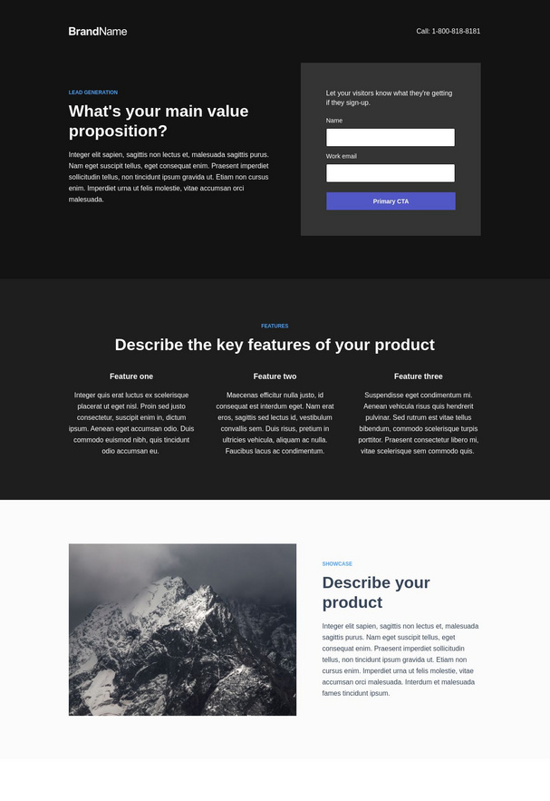 Trial Signup Landing Page 4