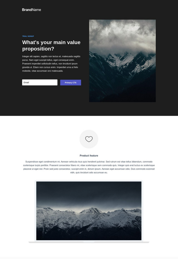 Trial Signup Landing Page 1