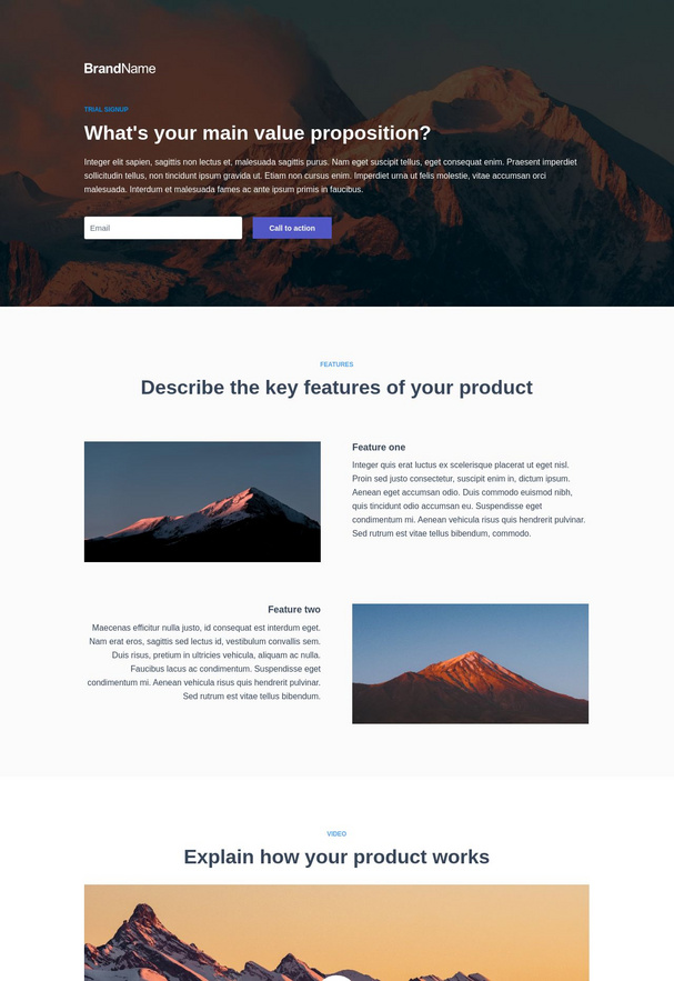 Trial Signup Landing Page 3