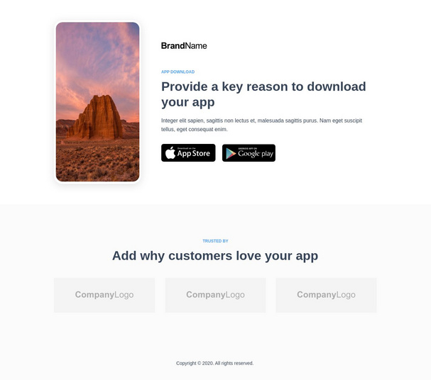 App Download Landing Page 6