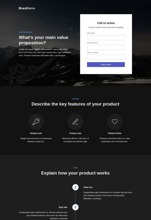 Asset Download Landing Page 1