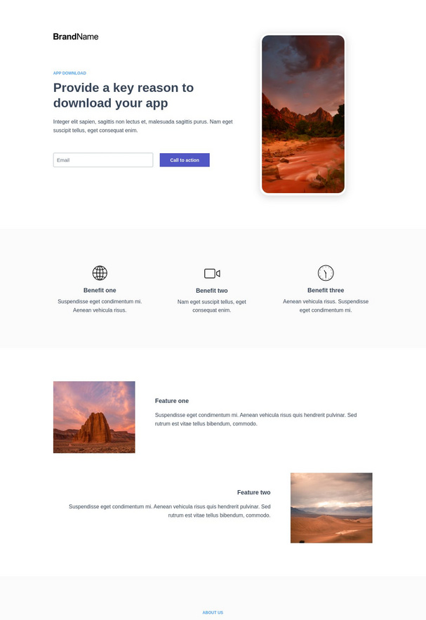 App Download Landing Page 4