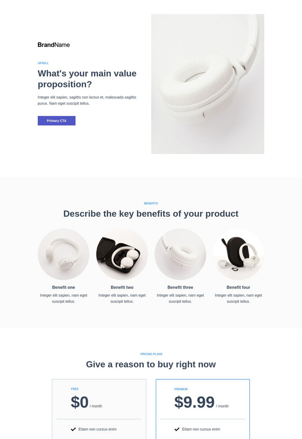 Up-sell or bonus landing page 3