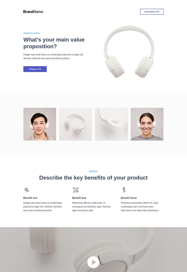 Product Launch Landing Page 3