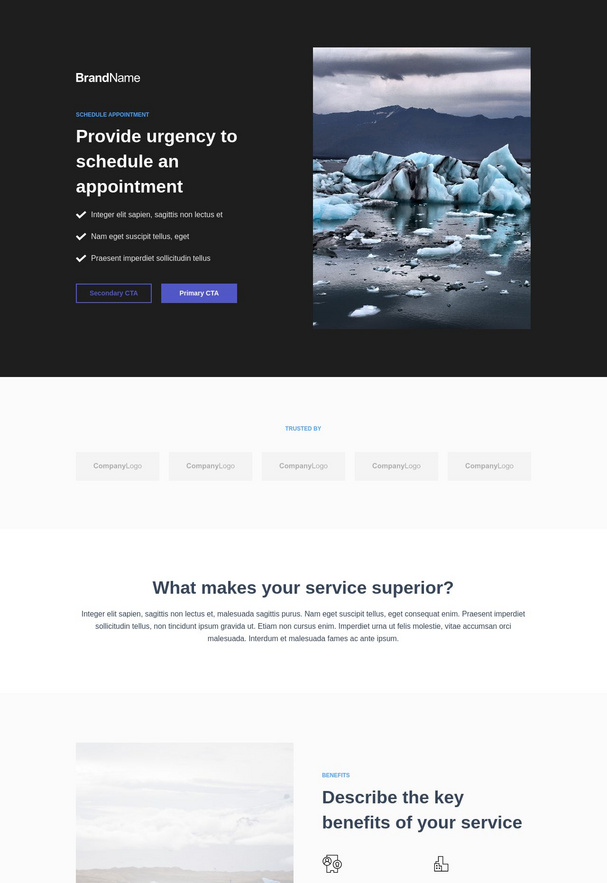 Schedule Appointment Landing Page 1-2