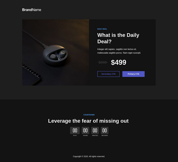 Daily deals landing page 3