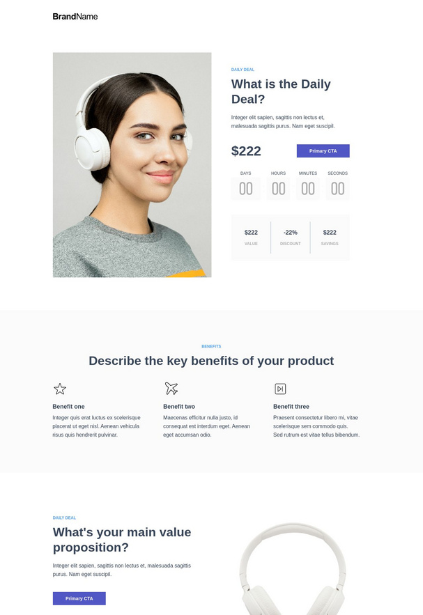 Daily deals landing page 2