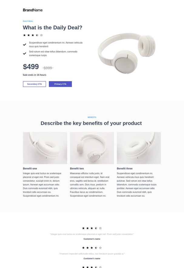 Daily deals landing page 4