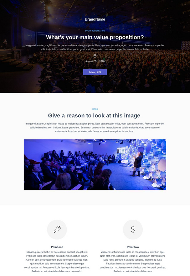 Event Registration Landing Page 4