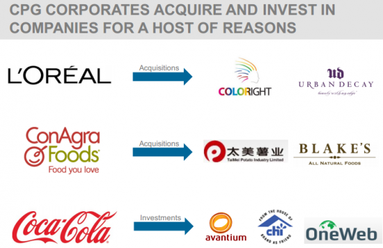 CPG CORPORATES ACQUIRE AND INVEST IN COMPANIES FOR A HOST OF REASONS
